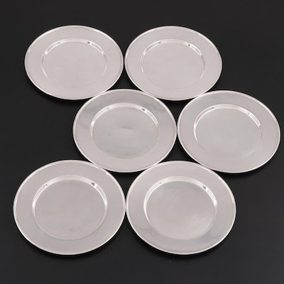 Wallingford Co. Silver Plate Bread and Butter Plates, Early/Mid 20th Century