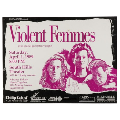 1989 Violent Femmes Pittsburgh Concert Poster