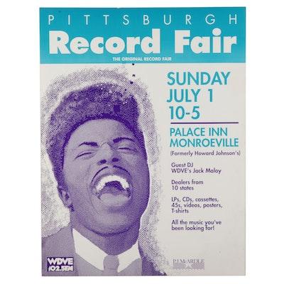 Little Richard Themed Record Fair Poster