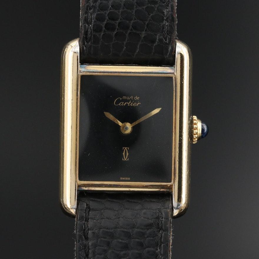 Cartier Must de Cartier Vermeil Tank Style Wristwatch