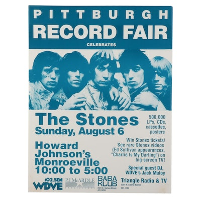 The Rolling Stones Themed Record Fair Poster