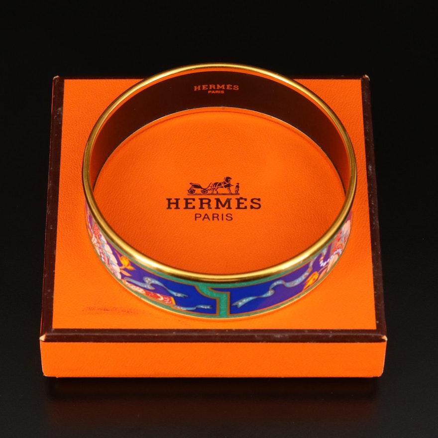 Hermès Enamel Bangle with Box