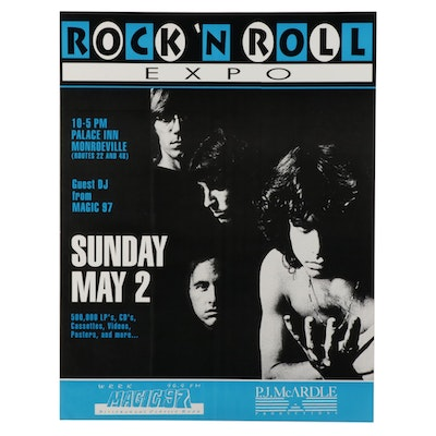 The Doors Themed Rock 'N Roll Expo Poster
