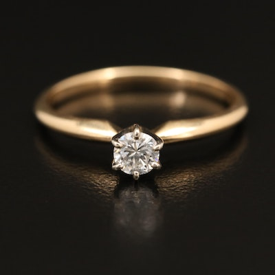 14K 0.21 CT Diamond Solitaire Ring
