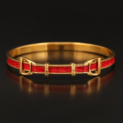 Hermès Leather Inlay Bangle