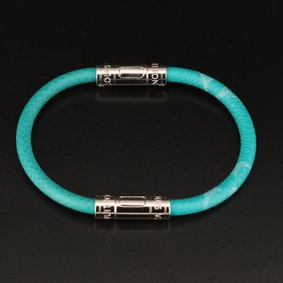 "Louis Vuitton ""Taiga Split"" Leather Bracelet"