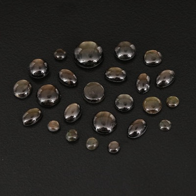 Loose 17.26 CTW Black Star Sapphires