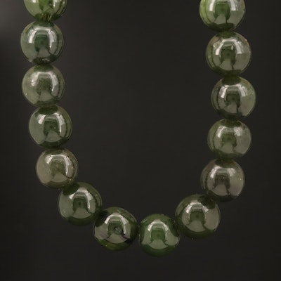 Nephrite Beaded Necklace