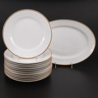 "Noritake ""Waverly"" Bone China Dinnerware, Early to Mid 20th Century"