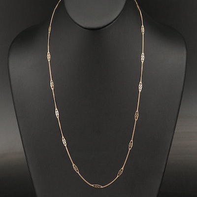 18K Station Necklace