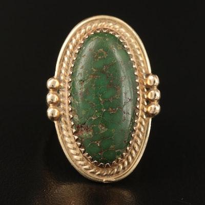 Julia Coan Navajo Diné 14K Turquoise Ring