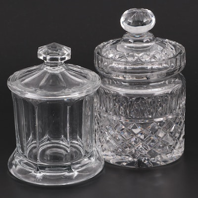Glass and Crystal Lidded Cookie and Biscuit Jars