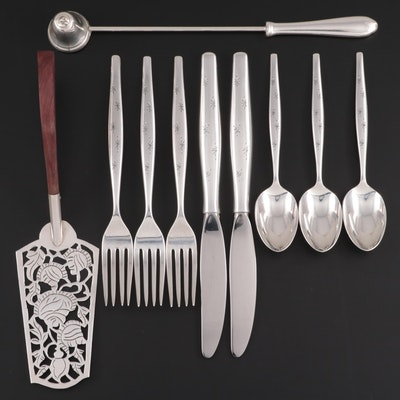 """Gorham """"Stardust"""" Sterling Silver Flatware with Other Sterling Silver Tableware"""