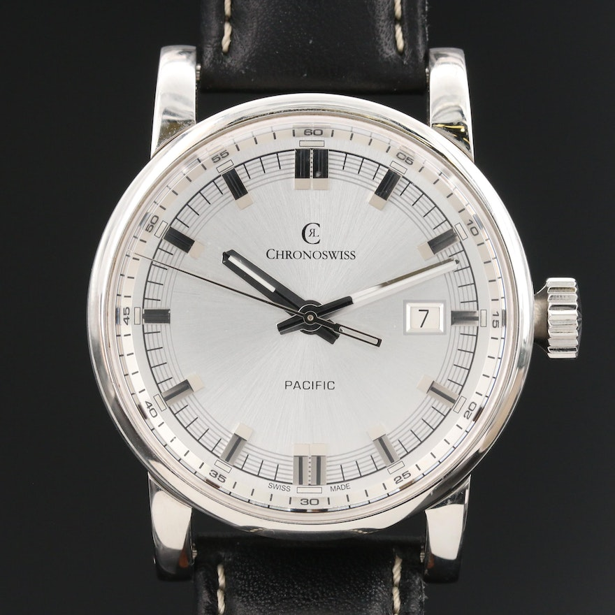 """Chronoswiss """"Pacific"""" Stainless Steel Wristwatch"""