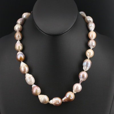 Pearl Strand Necklace with Sterling Clasp