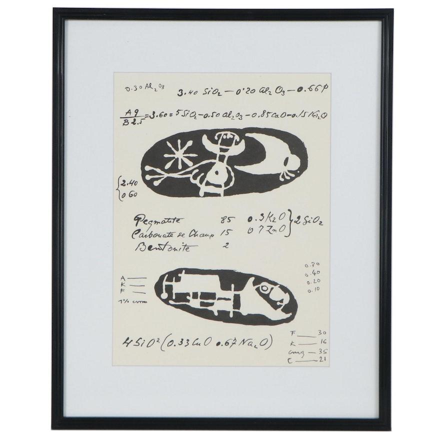 """Joan Miró Lithograph for """"Derrière le Miroir,"""" 1956"""