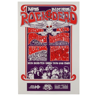 1989 Pittsburgh Rock & Dead Record Expo Poster