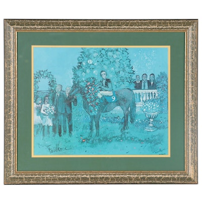 "Henry Faulkner Offset Lithograph ""In the Winner's Circle,"" Late 20th Century"