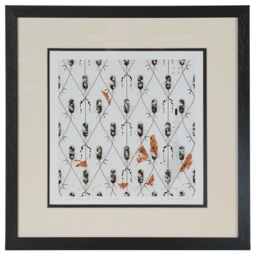 """Offset Lithograph after Charley Harper """"Weasel in the Teasel,"""" Late 20th Century"""