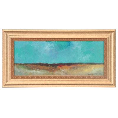 "Robert Riddle-Baker Acrylic Painting ""Horizon's Hope,"" 2021"