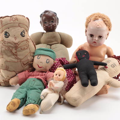 "Effanbee ""Dy–Dee–Baby"" Doll and Other Dolls, Mid to Late 20th Century"
