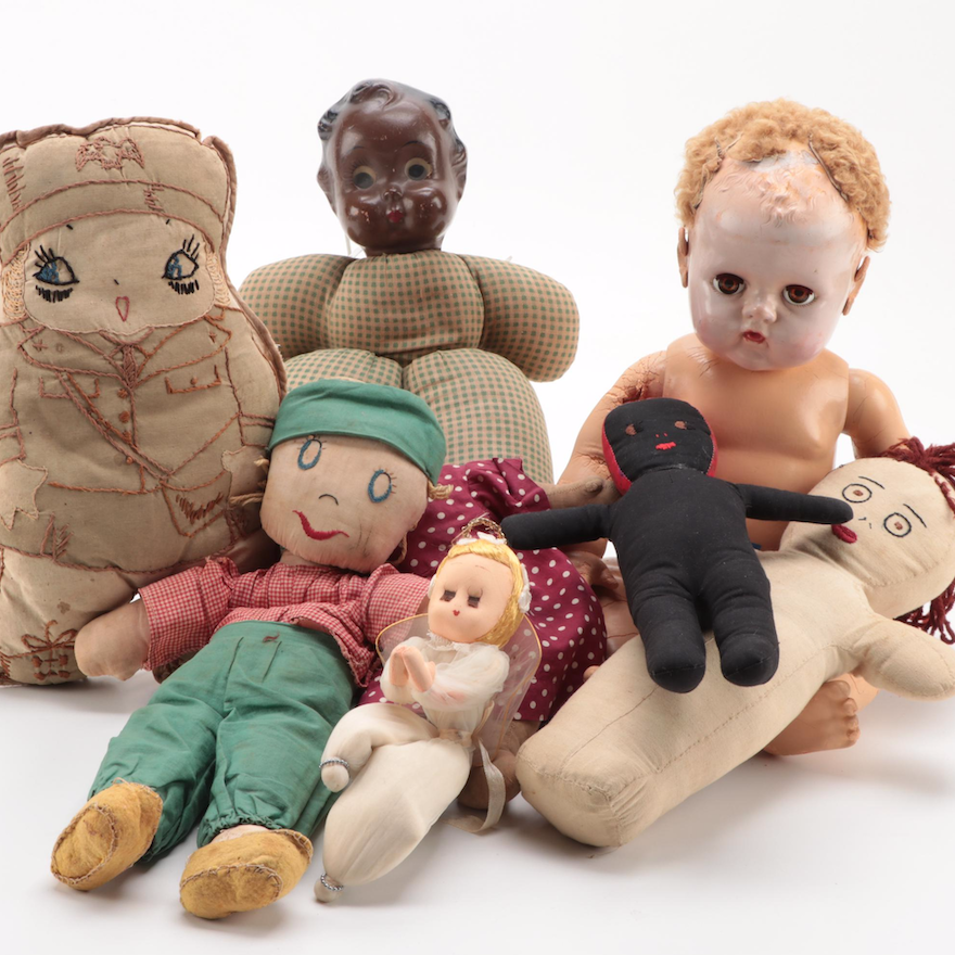 """Effanbee """"Dy–Dee–Baby"""" Doll and Other Dolls, Mid to Late 20th Century"""