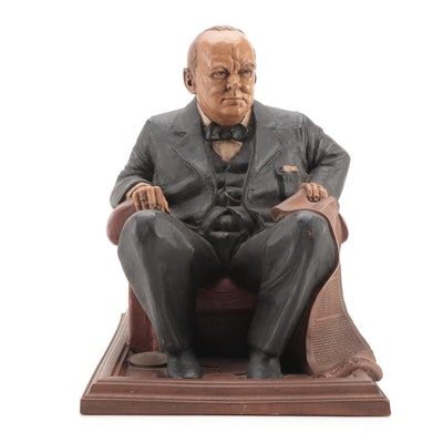 "Tom Clark's ""Winston Churchill"" Sculpted Resin Figurine, 1991"