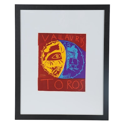 "Offset Lithograph after Pablo Picasso ""Villauris 1956 Toros,"" Late 20th Century"