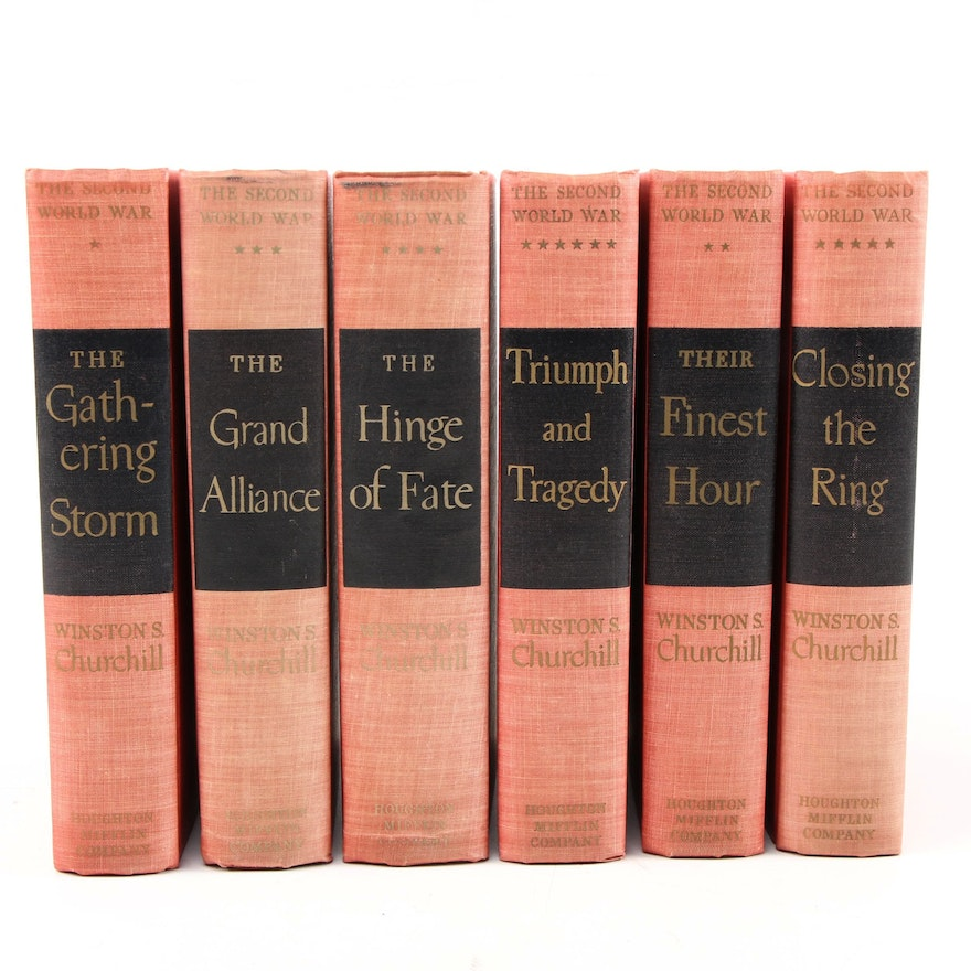 """First Edition """"The Second World War"""" Set by Winston Churchill, 1948 - 1953"""