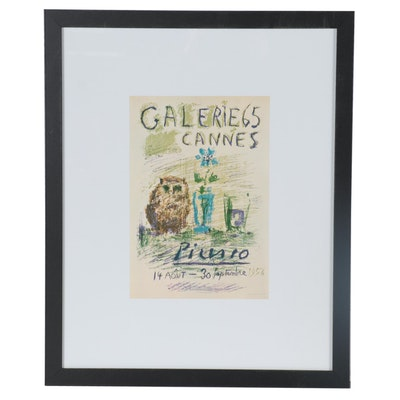 "Offset Lithograph after Pablo Picasso ""Galerie 65 Cannes"""