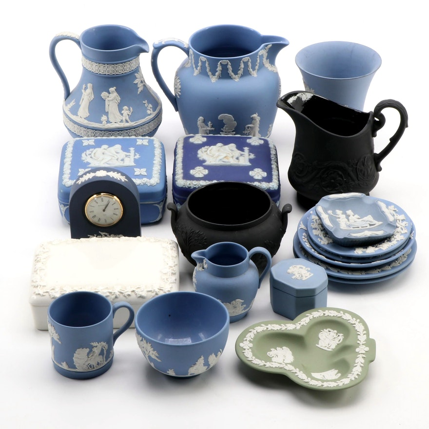 Wedgwood Jasperware Tableware, Boxes and Other Items