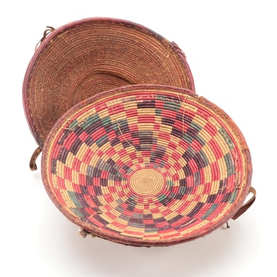 Harari Hand-Woven Polychrome Baskets, Ethiopia