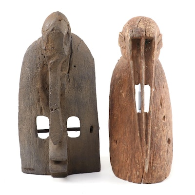Dogon Style Hand-Carved Wood Masks, West Africa