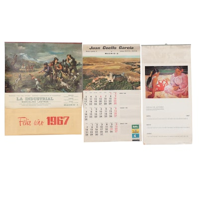 Offset Lithograph Calendars, circa 1966