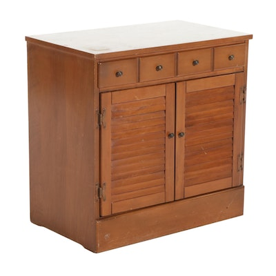 Ethan Allen Early American Style Maple Two-Door Side Cabinet, Late 20th Century