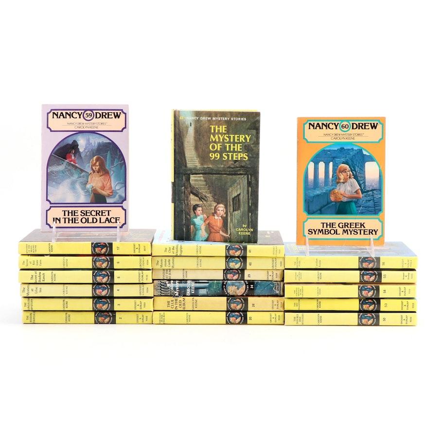 """Nancy Drew"" Mystery Novels by Carolyn Keene, Mid to Late 20th Century"
