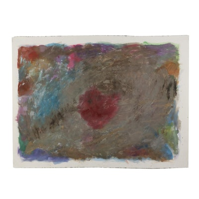 """Philip the Transplant Mixed Media Painting """"The Dead Heart,"""" 2008"""
