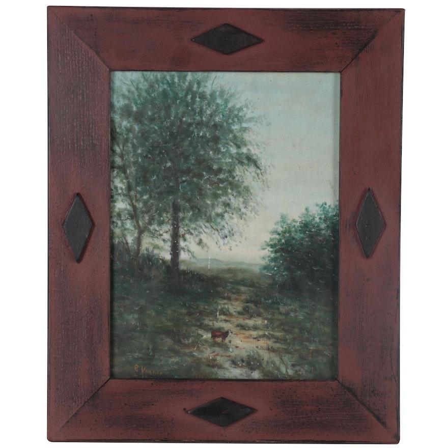 Landscape Oil Painting, 1976