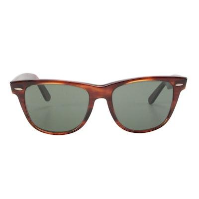 Ray-Ban B & L Wayfarer II Tortoise Sunglasses