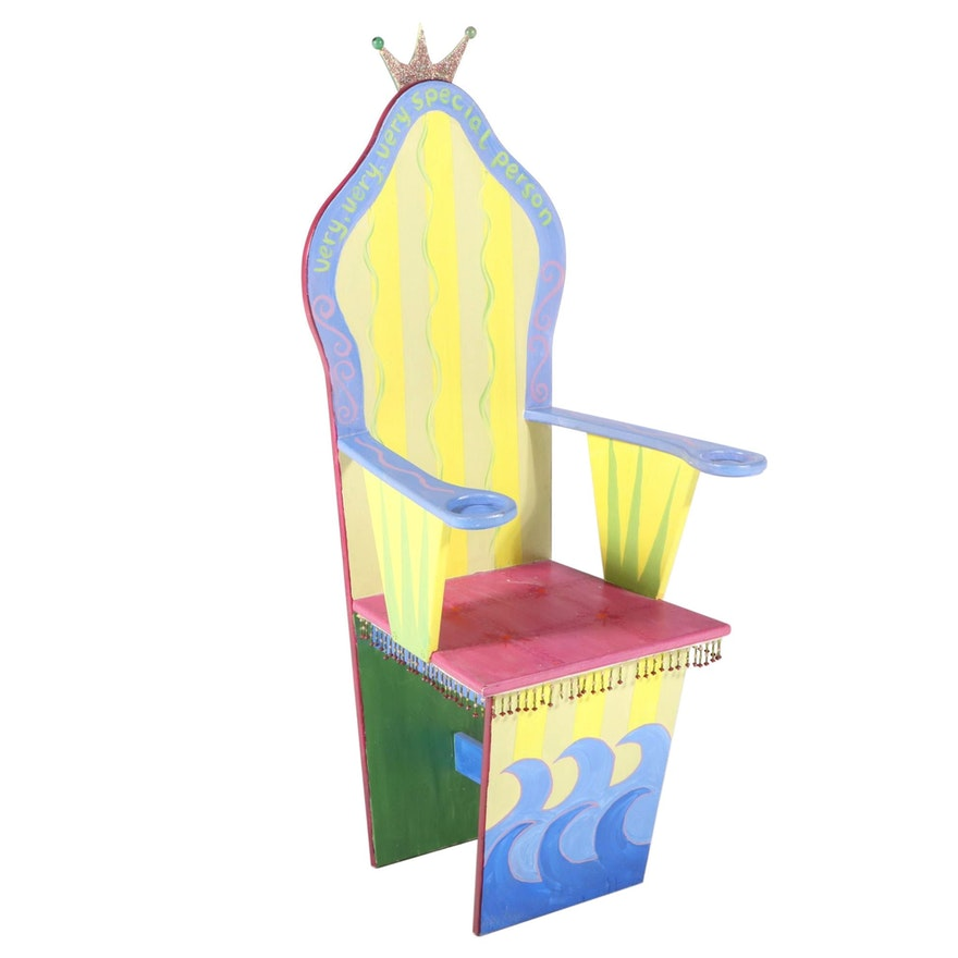 Hand-Painted Princess Throne Chair