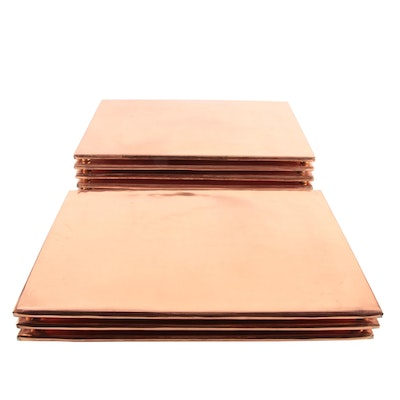 Copper and Brass Footed Place Mats