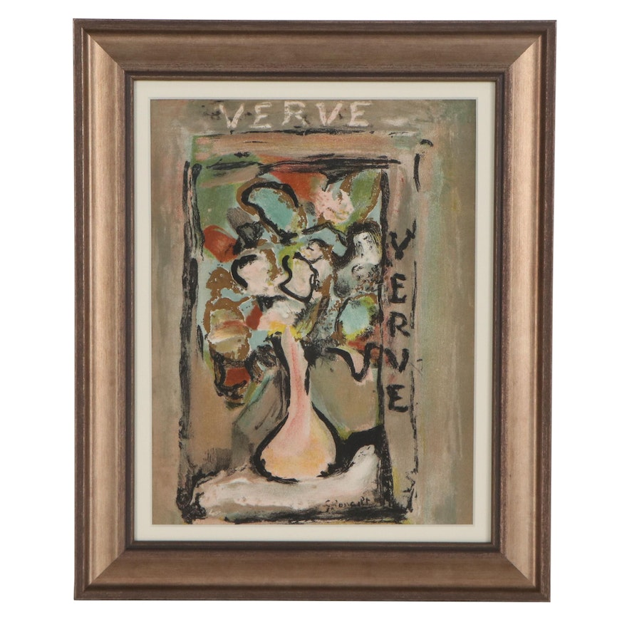 """Georges Rouault Color Lithograph for Cover of """"Verve,"""" 1939"""