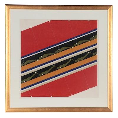 "Ernest Trova Serigraph ""Study/Falling Man"" Series, 1967"