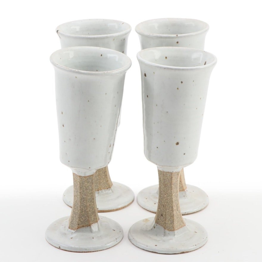 Artisan Handcrafted Stoneware Goblets