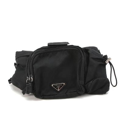 Prada Belt Bag in Black Tessuto Nylon