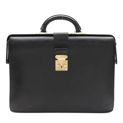 Louis Vuitton Briefcase in Black Epi Leather