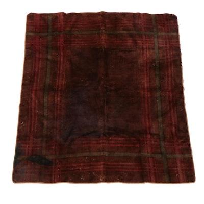 Stroock Motorobe Plaid Mohair Blanket, Early to Mid-20th Century