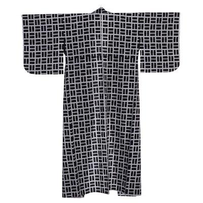 Geometric Indigo-Dyed Geometric Yukata