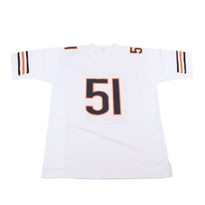 Dick Butkus Signed Chicago Bears Football Jersey, JSA COA