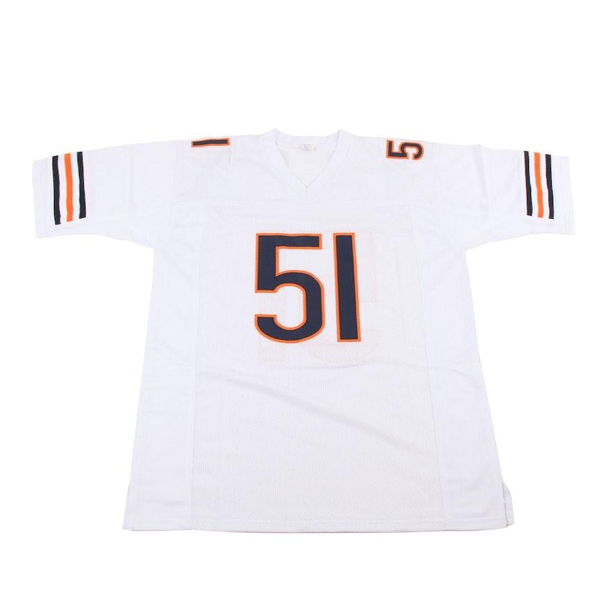 Dick Butkus Signed Chicago Bears Football Jersey, JSA COA